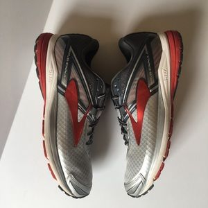 Brooks Shoes - Brooks Ravenna 8 Men's Running Shoes Red Gray